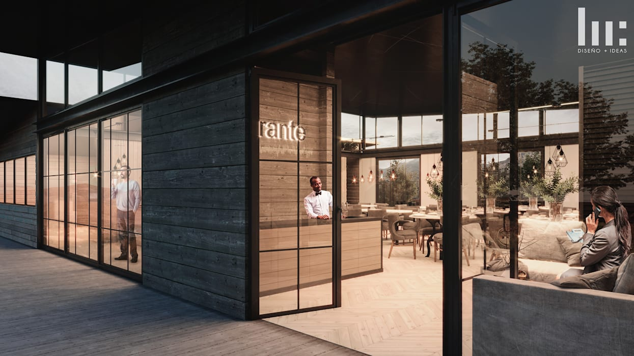 Restaurante - Interior Gastronomía de estilo minimalista de HC Arquitecto Minimalista Concreto