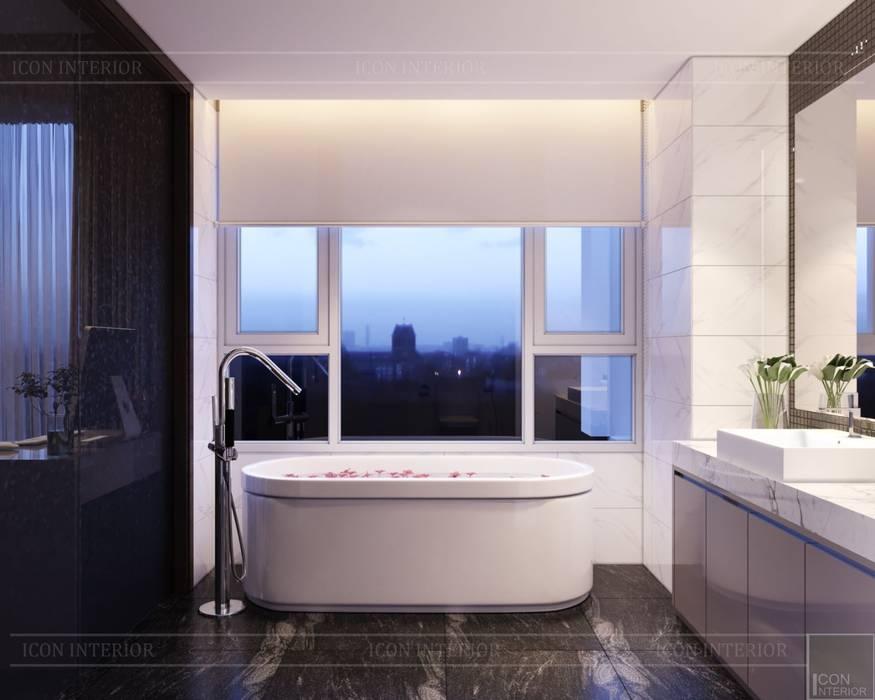 Thiết kế ấn tượng cho CĂN HỘ ĐẢO KIM CƯƠNG:  Phòng tắm by ICON INTERIOR, Hiện đại