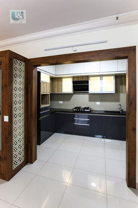 Kitchen from the Dining by U and I Designs Modern