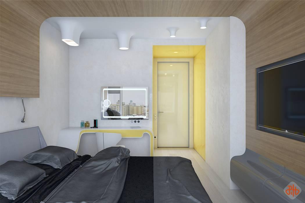 Спальня в стиле неофутуризм: Спальни в . Автор – Ник и Христина Рахат Rahat-House Design, Эклектичный Изделия из древесины Прозрачный