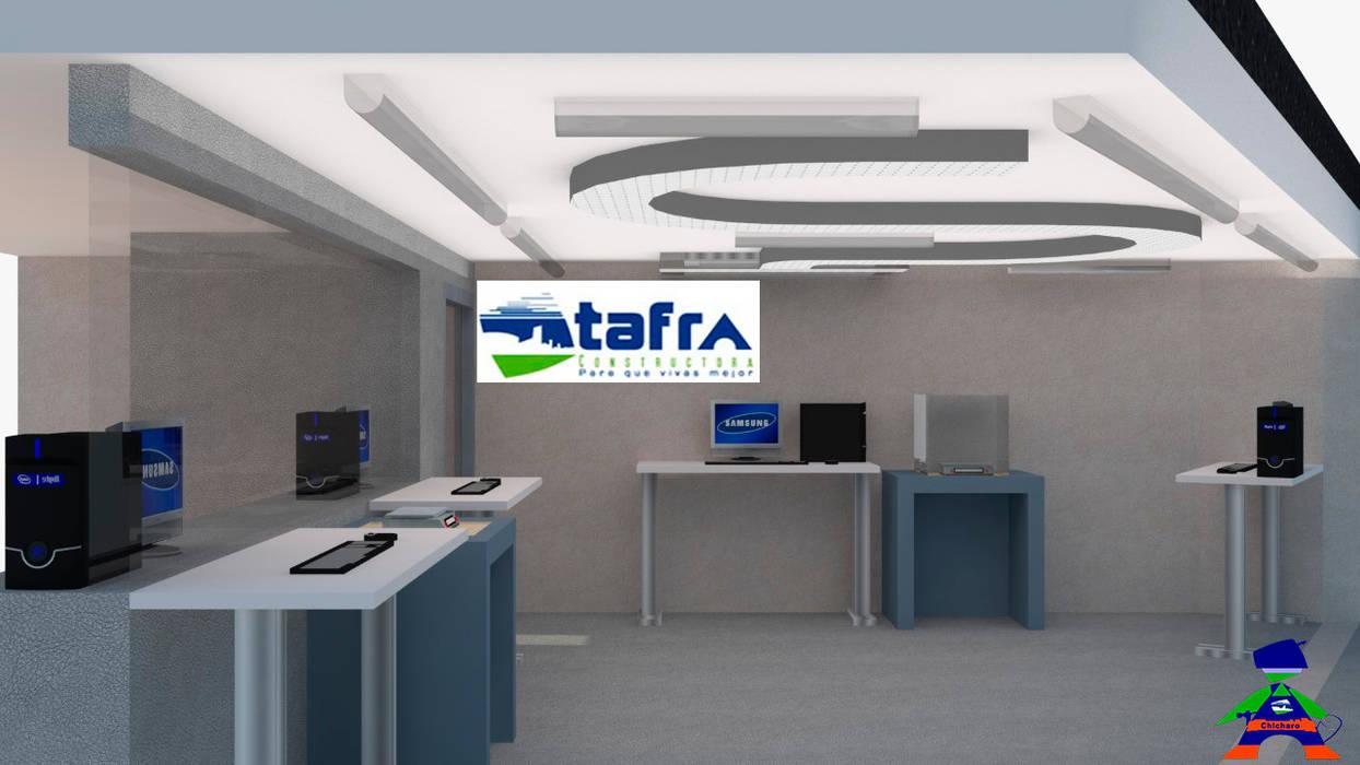 Techos planos de estilo  por CONSTRUCTORA TAFRA, S. A. DE C. V., Moderno Metal
