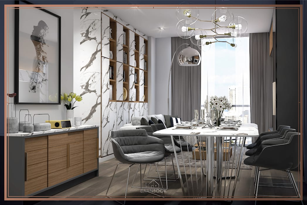hiện đại  theo BAANSOOK Design & Living Co., Ltd., Hiện đại