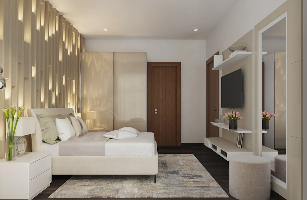 Master Bedroom:  Bedroom by De Panache ,Modern