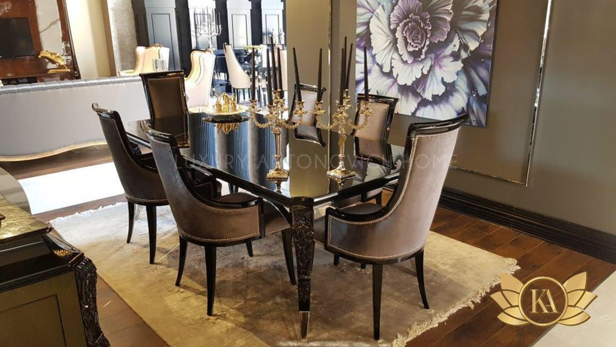 "Beauty and Luxury: Dining Room Set by KA Furniture: {:asian=>""asian"", :classic=>""classic"", :colonial=>""colonial"", :country=>""country"", :eclectic=>""eclectic"", :industrial=>""industrial"", :mediterranean=>""mediterranean"", :minimalist=>""minimalist"", :modern=>""modern"", :rustic=>""rustic"", :scandinavian=>""scandinavian"", :tropical=>""tropical""}  by Luxury Antonovich Design,"