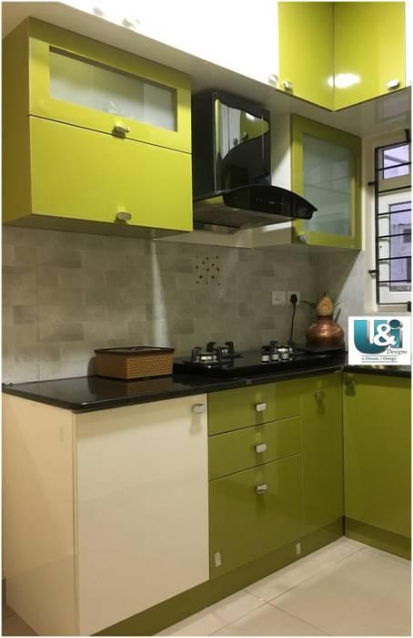 A functional kitchen U and I Designs KitchenStorage Green