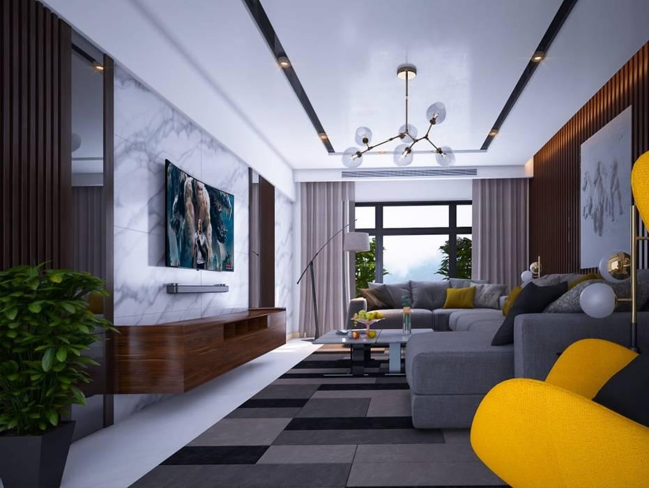 غرفه معيشه Mohannd design studio تصميم مساحات داخلية
