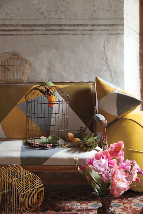 : modern  von Sunbrella,Modern Textil Bernstein/Gold