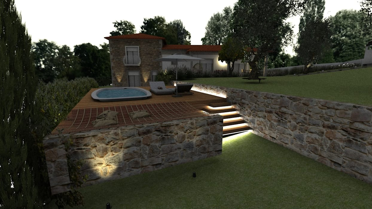 Pools im Landhausstil von Form Arquitetura e Design Landhaus
