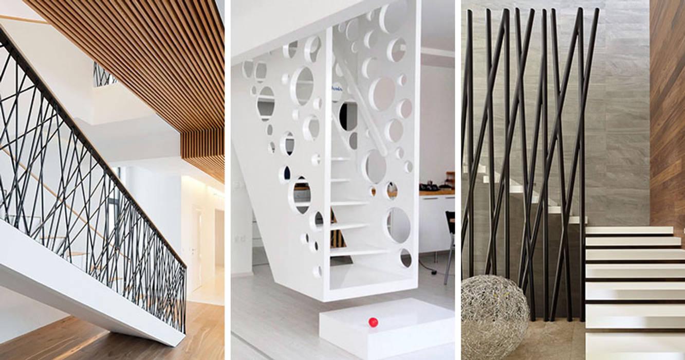 Cầu Thang hình học:  Stairs by Nguyen Hung Architects, Modern Aluminium/Zinc