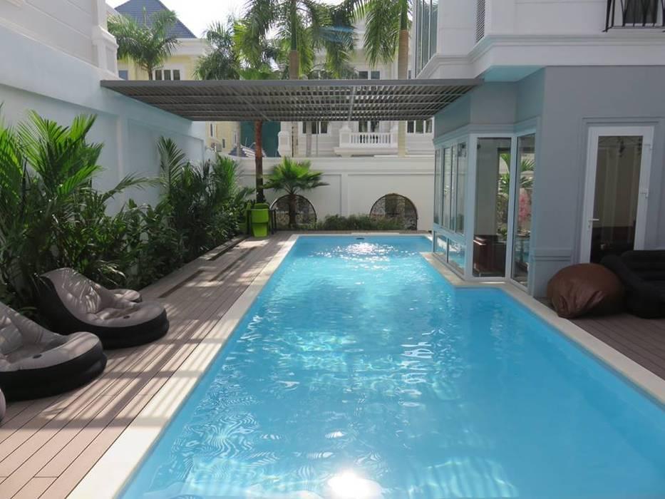Hồ Bơi by Nguyen Hung Architects Modern Concrete