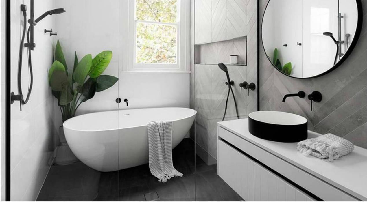 Phòng tắm tối giản Modern Bathroom by Nguyen Hung Architects Modern Ceramic