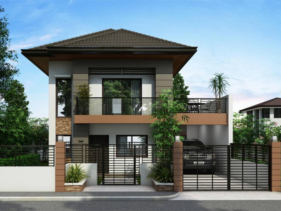 Mặt tiền hiện đại by Nguyen Hung Architects Modern Concrete
