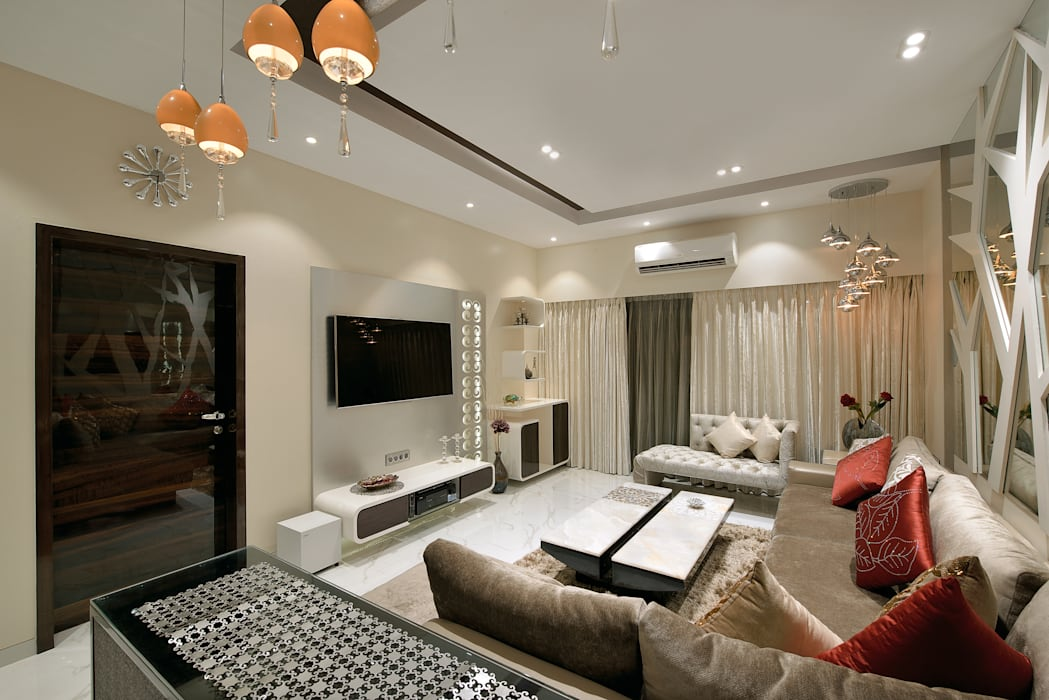 Designer's Fantasy Modern living room by Ar. Milind Pai Modern