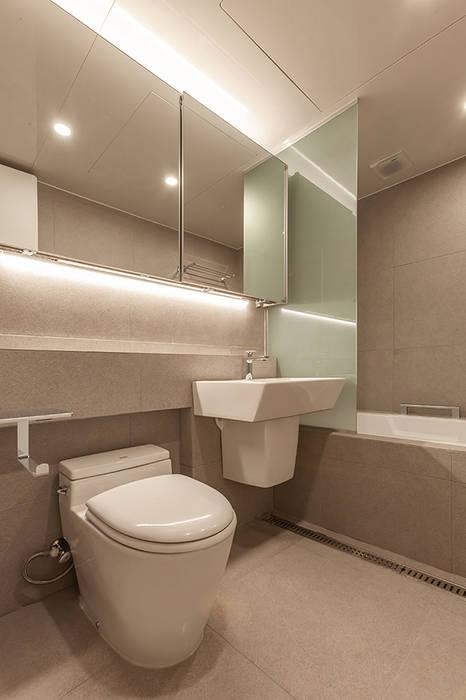 남양주시 덕소강변현대홈타운아파트 64평 인테리어 리모델링 - 욕실 모던스타일 욕실 by studio FOAM 모던