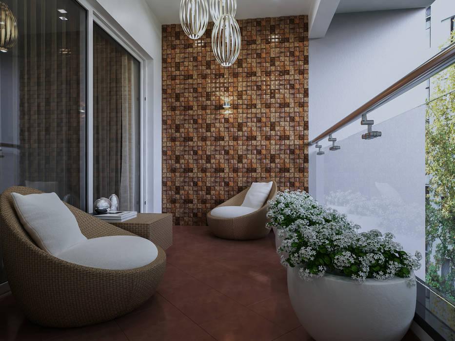 Balcón de estilo  por De Panache  - Interior Architects, Moderno