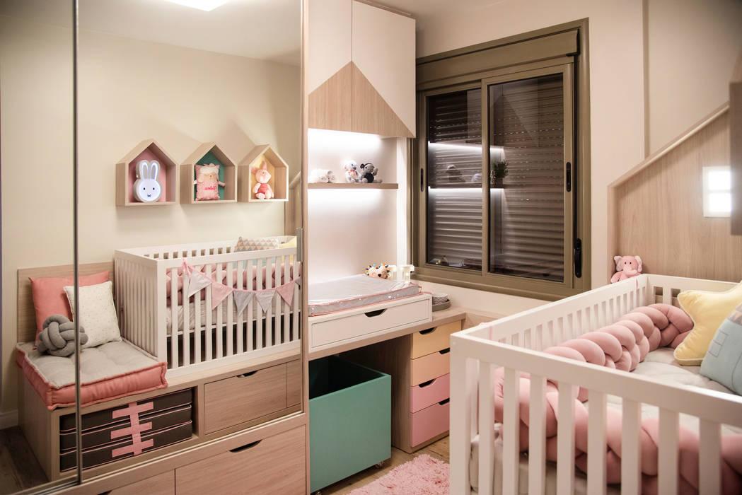Quarto da Helena: Quartos de bebê  por JuBa - Arquitetando Ninhos,Moderno