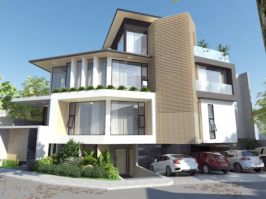 Rumah tinggal  oleh Structura Architects, Minimalis Kayu Wood effect