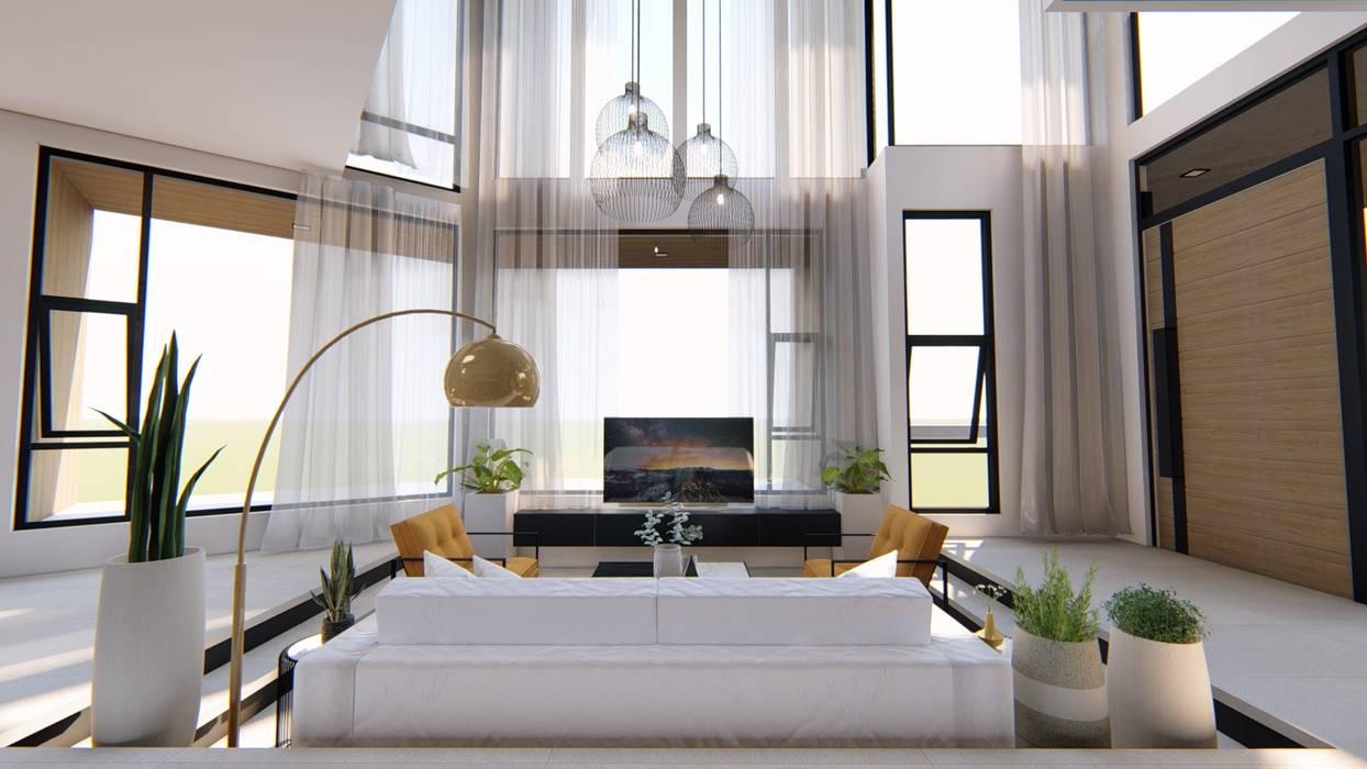 Ruang Keluarga oleh Structura Architects, Modern Beton