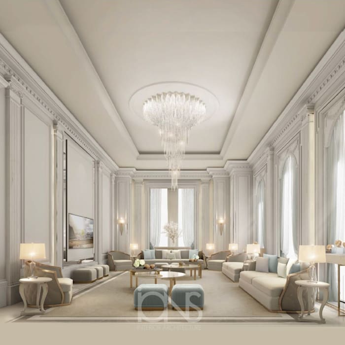 Interior Designing Idea for Beautiful Living Room Classic style living room by IONS DESIGN Classic Marble