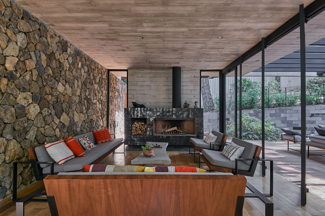 Salas de estar modernas por Saavedra Arquitectos Moderno Concreto