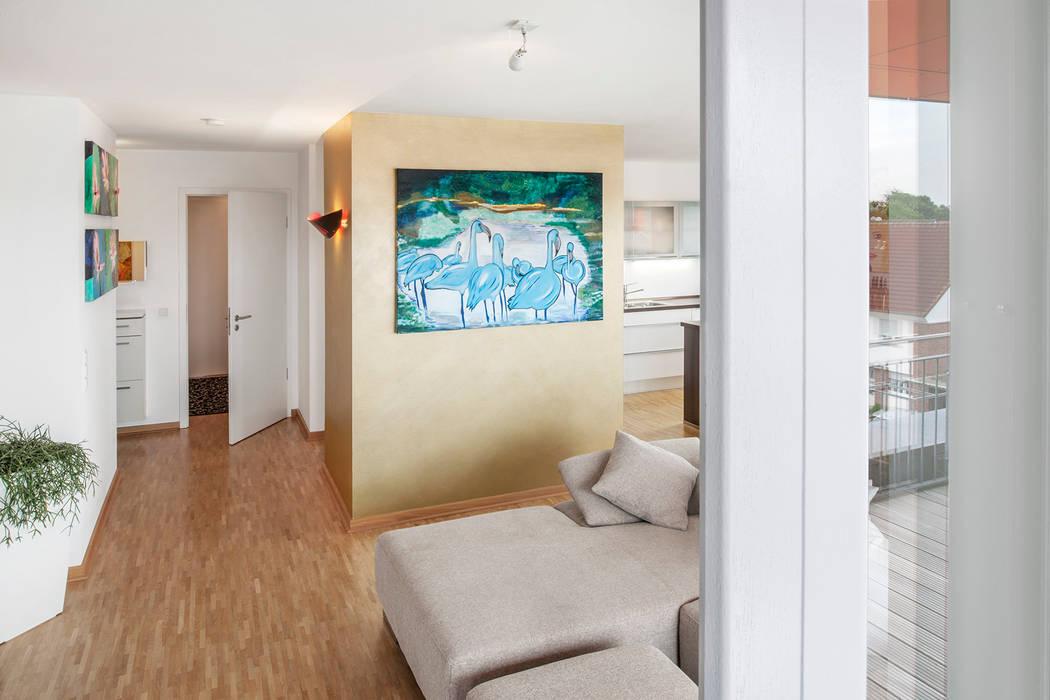 Raumteiler - Gold wert Moderne Wohnzimmer von Hilger Architekten Modern Silber/Gold