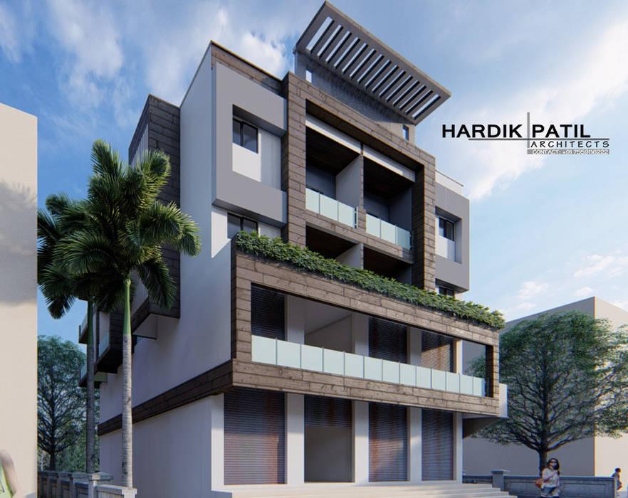 Rumah keluarga besar oleh HARDIK PATIL ARCHITECTS, Modern