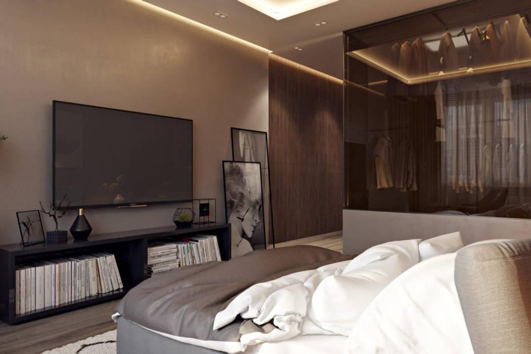 ЖК «EgoDom (ЭгоДом)» Спальня в скандинавском стиле от 'INTSTYLE' Скандинавский Дерево Эффект древесины