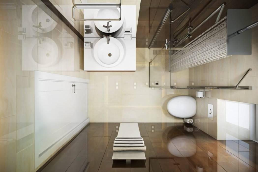 КП «Фаворит»: Ванные комнаты в . Автор – 'INTSTYLE', Скандинавский Плитка