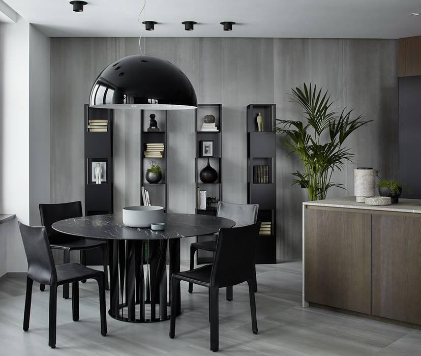 Stealth flat: Столовые комнаты в . Автор – iPozdnyakov studio, Минимализм