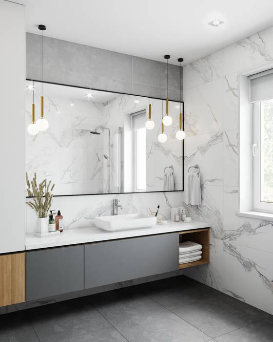 Ванная Ванная комната в скандинавском стиле от DesignNika Скандинавский