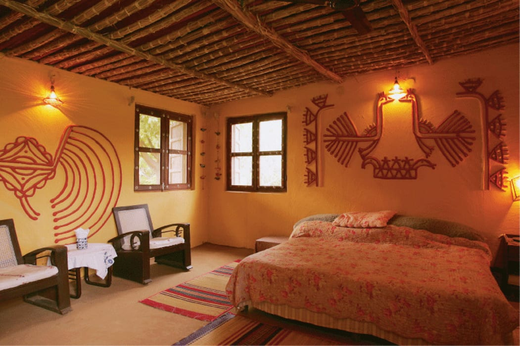 Kutchi Mud Mirror Lippan Wall Work for Hotel Restaurant Farm House Villa Classic style walls & floors by City Trend Classic