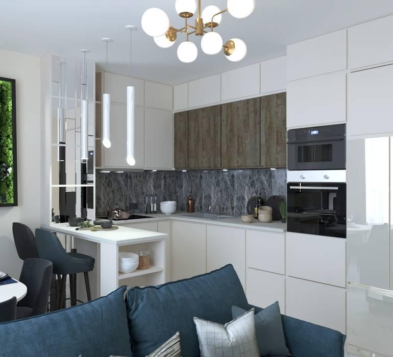Кухня: Кухонные блоки в . Автор – Anastasia Yakovleva design studio, Минимализм Дерево Эффект древесины
