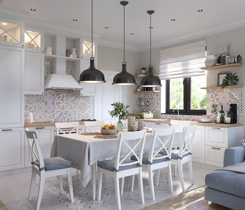 Built-in kitchens by 'INTSTYLE', Classic Wood Wood effect