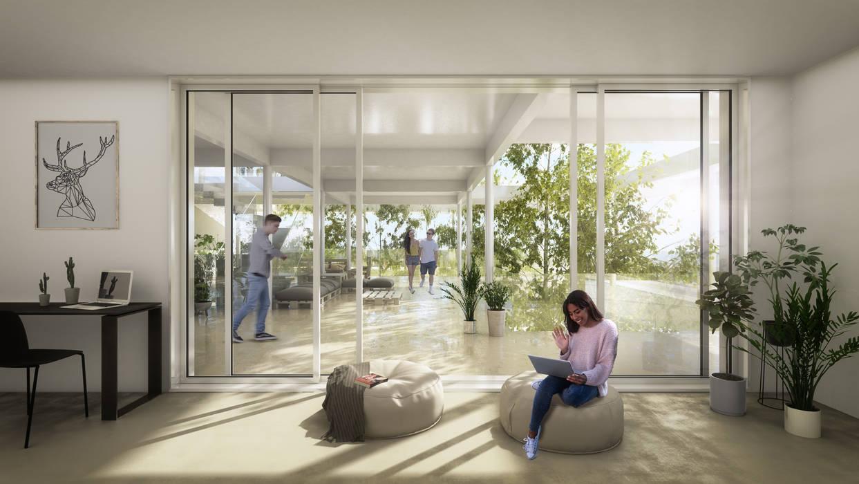 Residencia de Estudiantes en Génova Salones de eventos de estilo moderno de S-AART Moderno