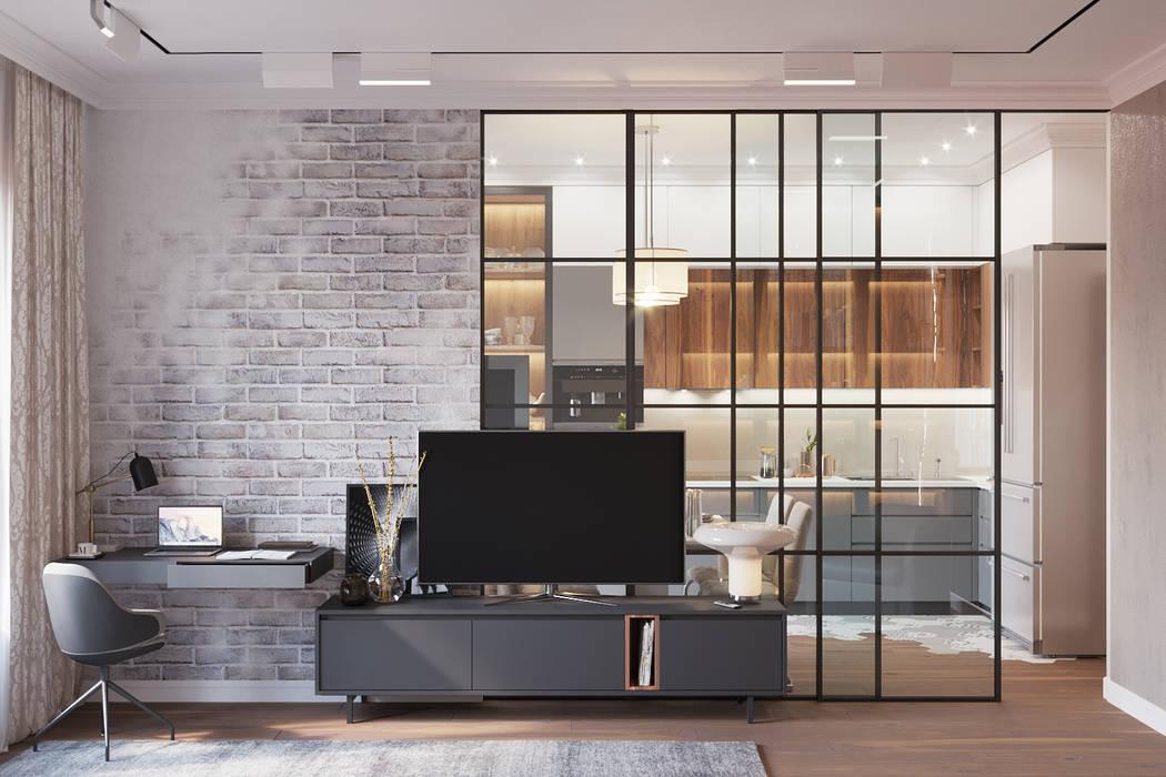 Living room by 'INTSTYLE', Scandinavian Wood Wood effect