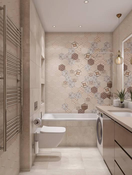 ЖК «Ломоносовский»: Ванные комнаты в . Автор – 'INTSTYLE', Скандинавский Плитка
