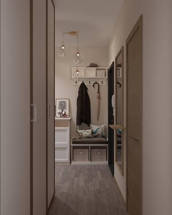 Pasillos, vestíbulos y escaleras de estilo escandinavo de 'INTSTYLE' Escandinavo Azulejos