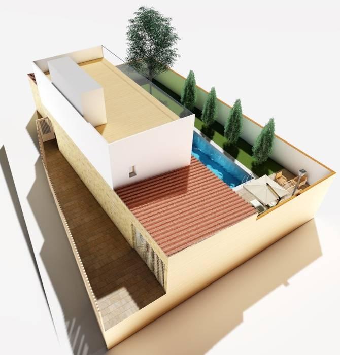 Dakterras door Alfaro Arquitecto 3A3, Landelijk