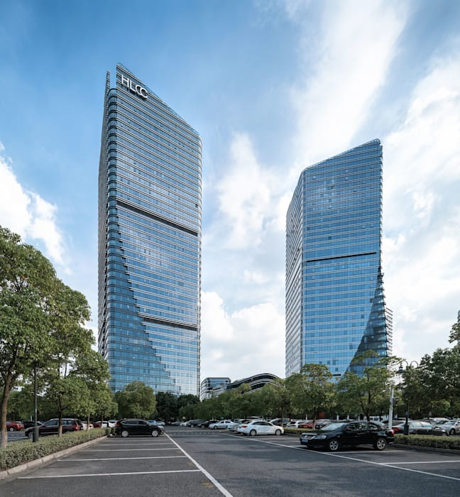 Hong Leong City Center in Suzhou by Aedas Architecture by Aedas Classic style study/office Metal Grey