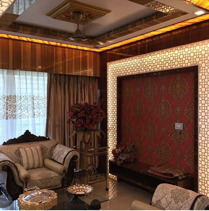 Orchard Ghatkopar Project Asian style living room by Six Elms Interiors Asian