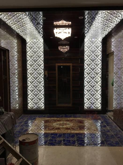 Six Elms Interiors Couloir, entrée, escaliers asiatiques