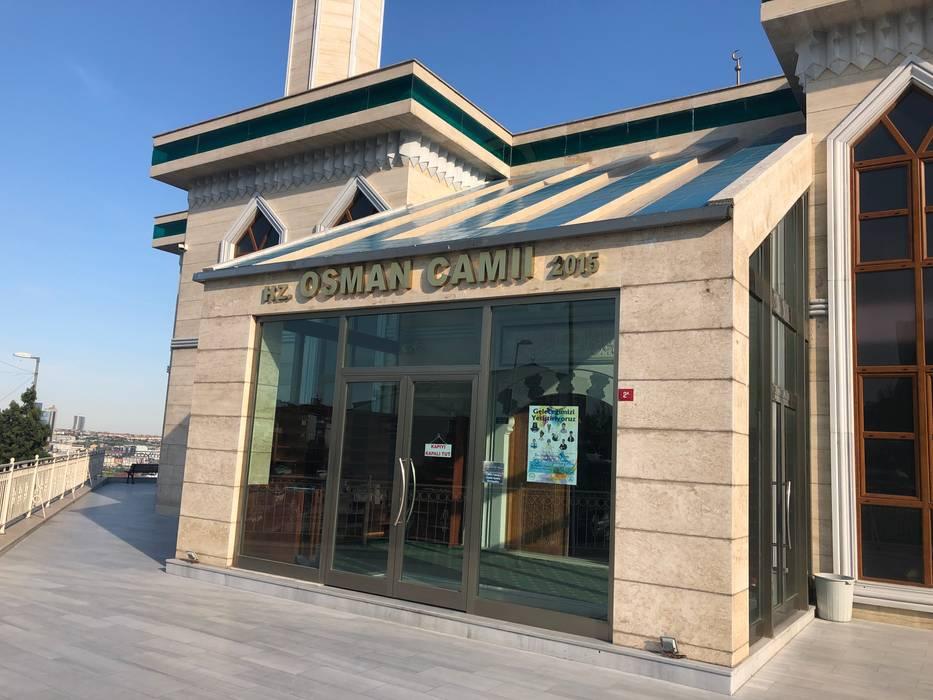 Beylikdüzü Hz. Osman Camii Cephe Traverten Kaplama DOĞALDEKOR   DEKORATİF DOĞAL TAŞ & MERMER & TRAVERTEN ÜRETİCİ Klasik Kireçtaşı