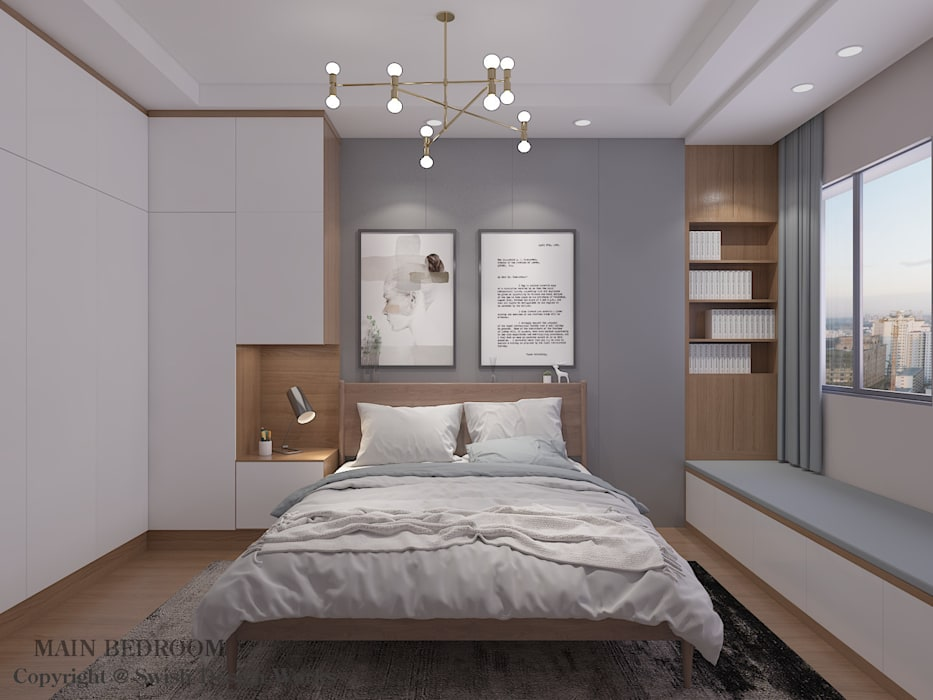 Master bedroom option 1 by Swish Design Works Modern Plywood
