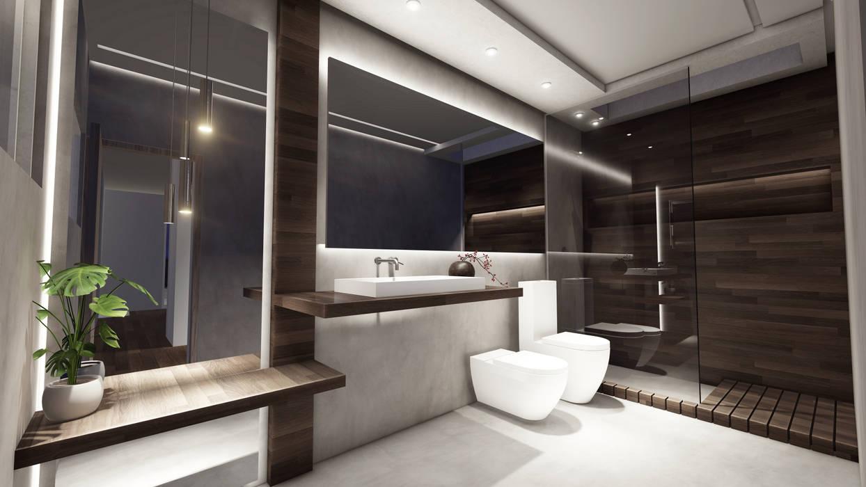 Baño Principal Baños modernos de Hito Arquitectura Moderno