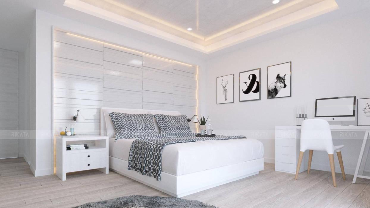 Scandinavian style bedroom by RIKATA DESIGN Scandinavian