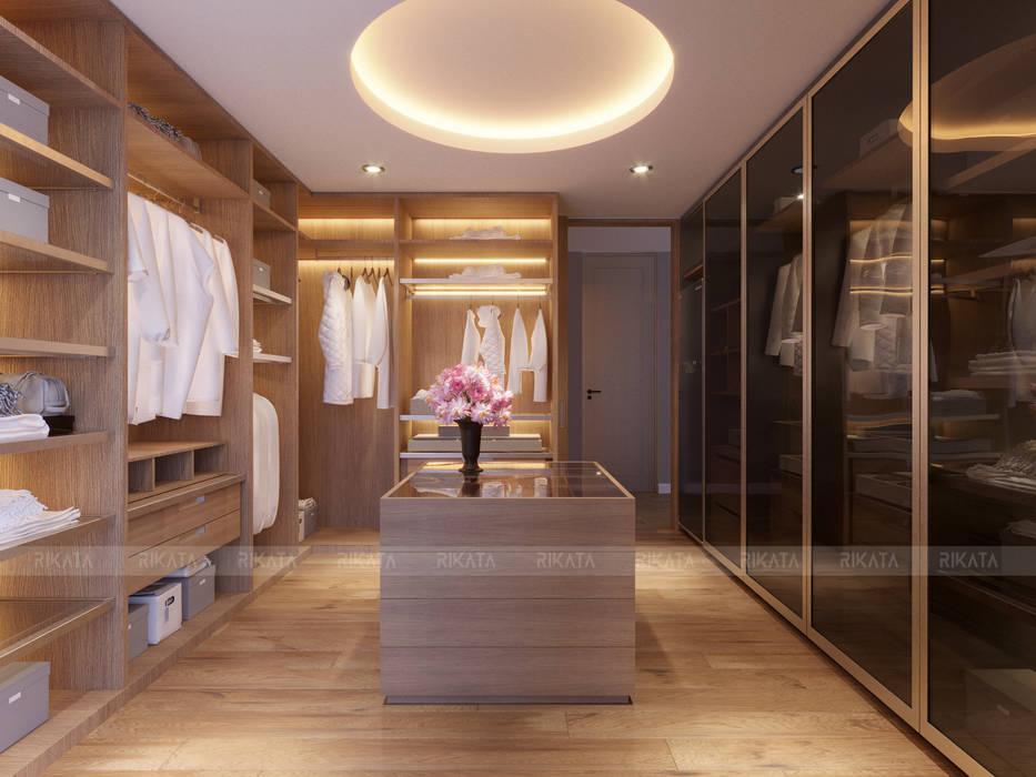 CHAM OASIS VILLA-M03 RIKATA DESIGN Phòng thay đồ phong cách hiện đại