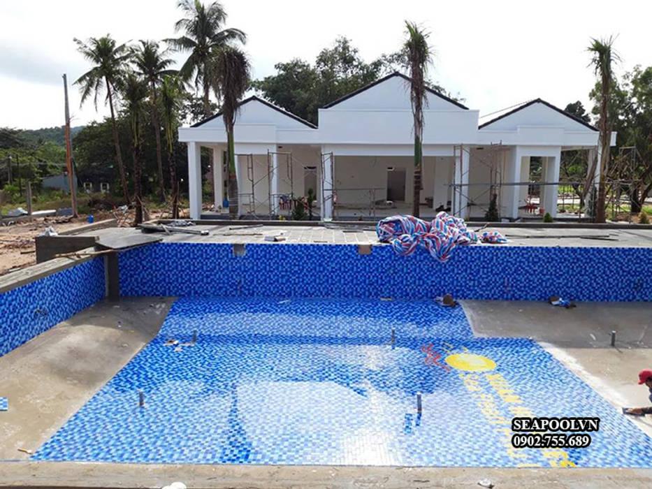 Thiết kế thi công bể bơi Seapoolvn by seapoolvn Modern Glass