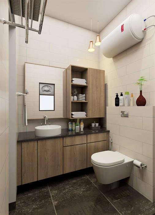 apartment Modern bathroom by Tanish Dzignz Modern