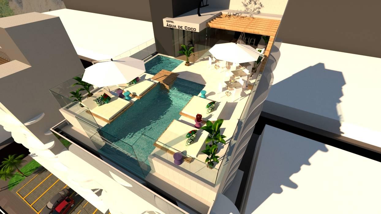 Cobertura - Área de lazer Hotéis modernos por TOAR Arquitetura Moderno