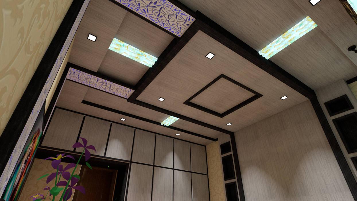 bedroom false ceiling design Modern style bedroom by Dominic Interiors Modern